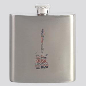 guitar word fill red blue black Flask