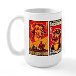 Dachshund Propaganda! Large Mug Mugs