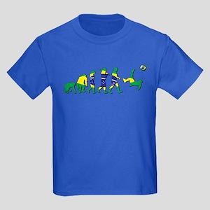 Evolution of Brazil Football Kids Dark T-Shirt
