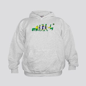 Evolution of Brazil Football Kids Hoodie