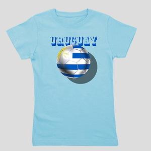Uruguay Soccer Ball Girl's Tee
