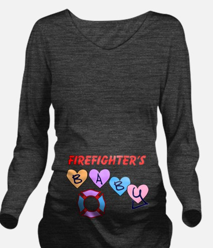 Firefighters Baby Long Sleeve Maternity T-Shirt