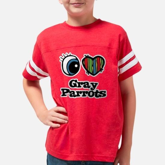 gray parrots Youth Football Shirt