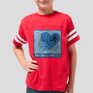 Autism is a Puzzle Youth Football Shirt