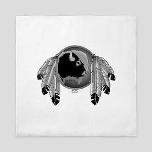 Native Art Spirit Buffalo Queen Duvet