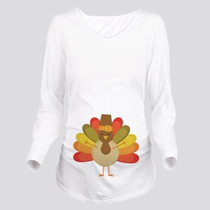 Thanksgiving Pilgrim Turkey Long Sleeve Maternity