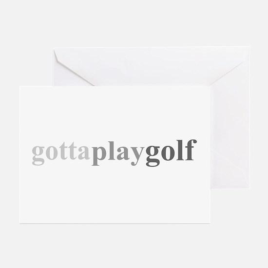 """Gotta Play Golf"" Greeting Cards (Pk of 10)"