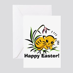 Easter Kitty 3 Greeting Cards (Pk of 10)
