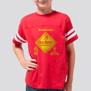 Warning! Sabre Fencer Youth Football Shirt