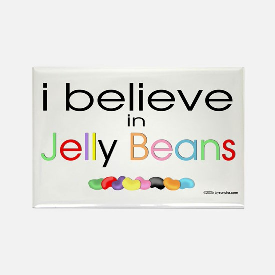 I believe in Jelly Beans Rectangle Magnet