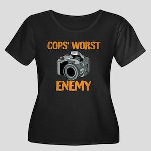 Camera: Cops Worst Enemy Plus Size T-Shirt