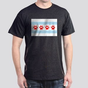 Chicago Dogs: Paw Prints Dark T-Shirt