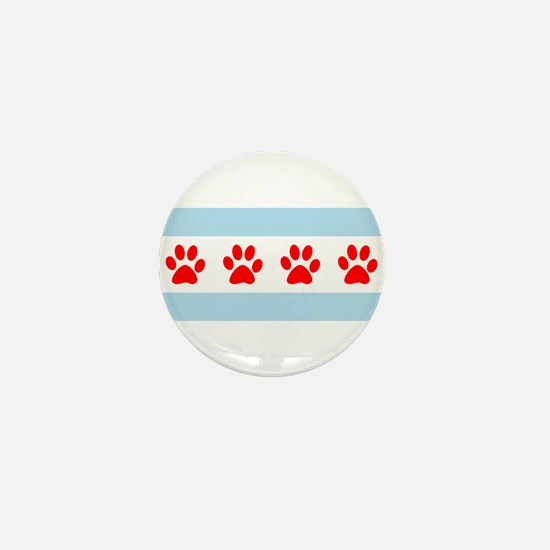 Chicago Dogs: Paw Prints Mini Button