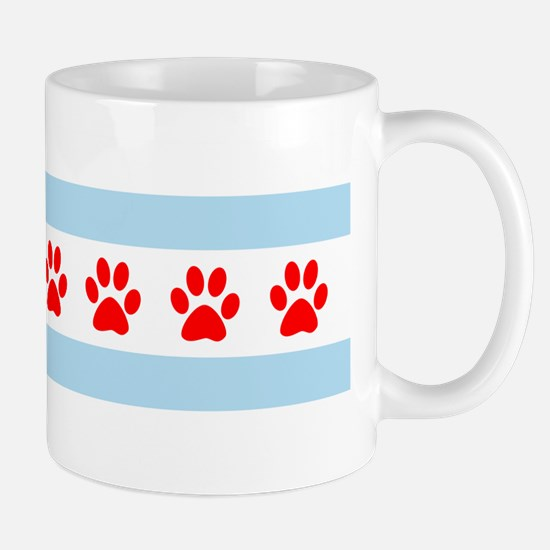 Chicago Dogs: Paw Prints Mug