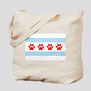Chicago Dogs: Paw Prints Tote Bag
