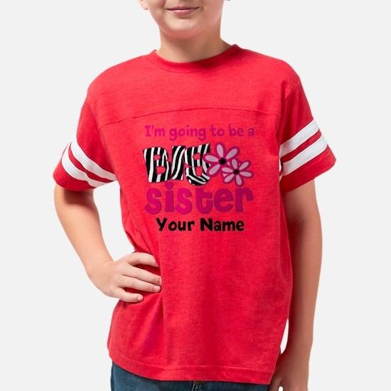 Big Sister To Be Zebra Youth Football Shirt