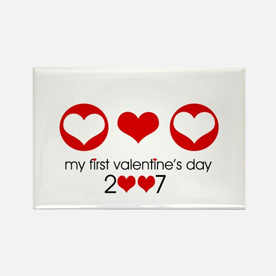 My first Valentine's Day 2007 Rectangle Magnet (10