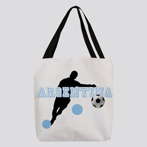 Argentina Soccer Player Polyester Tote Bag