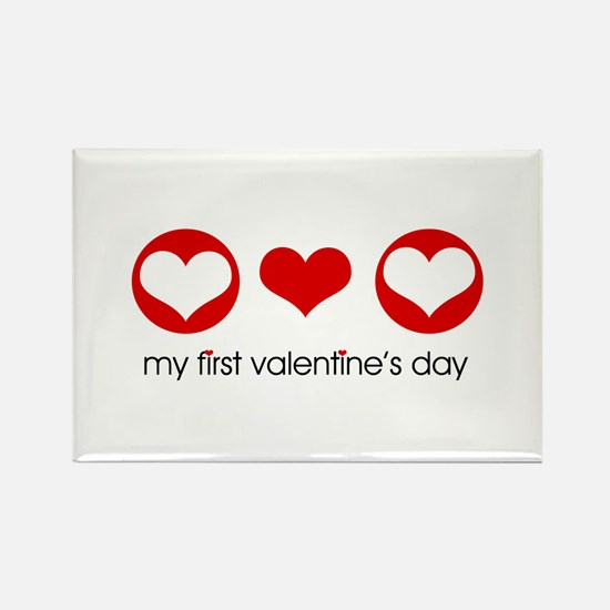 My First Valentine's Day Rectangle Magnet (10 pack