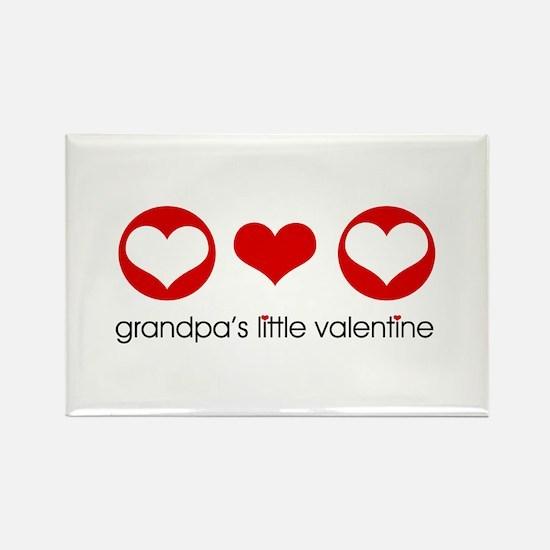 Grandpa's Little Valentine Rectangle Magnet (10 pa