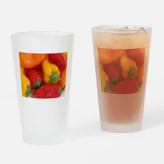 Bell Peppers Drinking Glass