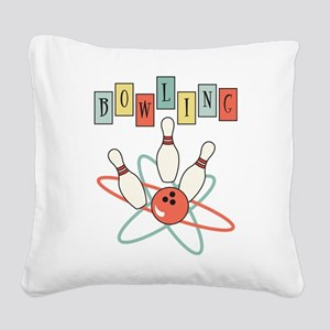 Bowling Square Canvas Pillow