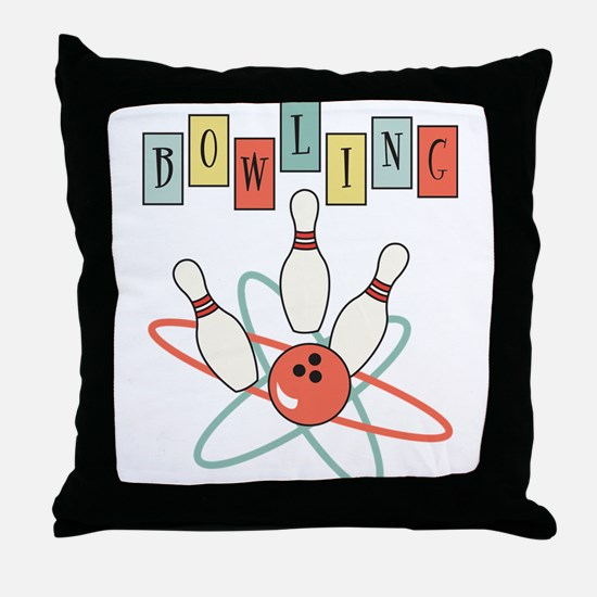 Bowling Throw Pillow