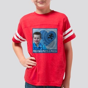 Autism_Prestons Puzzle Pieces Youth Football Shirt