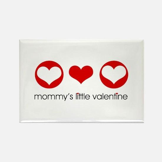 Mommy's Little Valentine Rectangle Magnet (10 pack