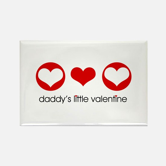 Daddy's Little Valentine Rectangle Magnet (10 pack