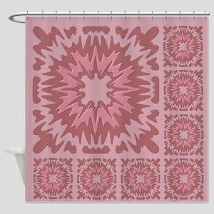 Mauve Tiles Shower Curtain