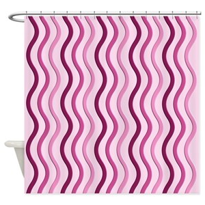 Wavy Stripes Shower Curtains