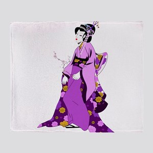 Geisha - Anime - Japan Throw Blanket