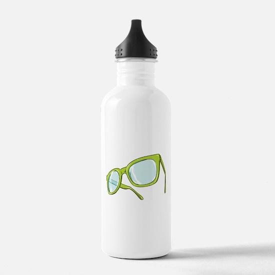 Glasses - Nerd - Hipster Water Bottle
