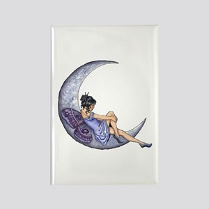 A Fairy Moon Rectangle Magnet
