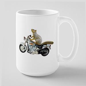 Motorcycle Squirrel Large Mug