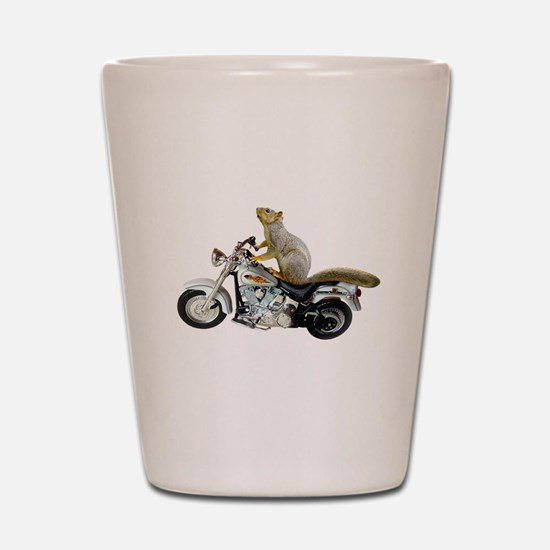 Motorcycle Squirrel Shot Glass