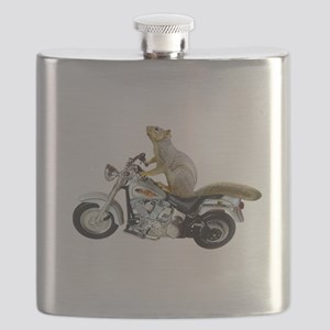 Motorcycle Squirrel Flask