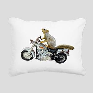 Motorcycle Squirrel Rectangular Canvas Pillow