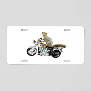 Motorcycle Squirrel Aluminum License Plate