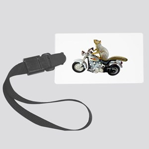 Motorcycle Squirrel Large Luggage Tag