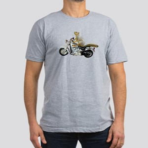 Motorcycle Squirrel Men's Fitted T-Shirt (dark)