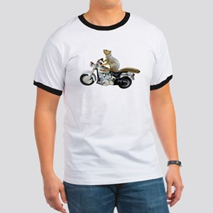 Motorcycle Squirrel Ringer T