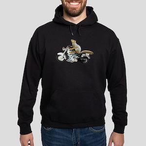 Motorcycle Squirrel Hoodie (dark)