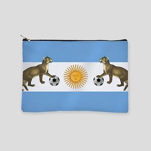 Argentina Football Flag Makeup Bag