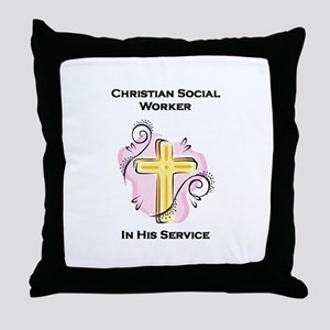 Christian Social Worker Throw Pillow