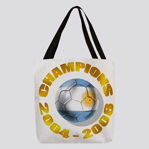 Argentina Soccer Champions Polyester Tote Bag