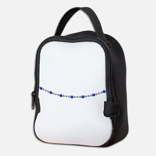 Lady Sapphire and Diamond Necklace Neoprene Lunch