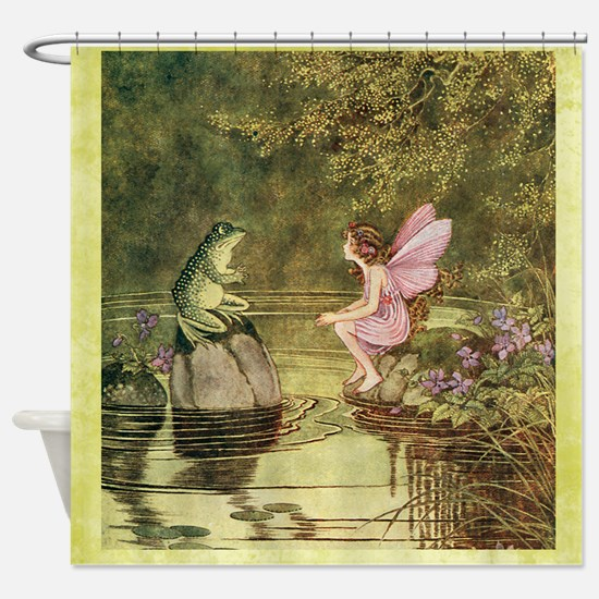 Frog Begging Fairy Child Shower Curtain