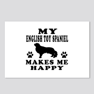 My English Toy Spaniel makes me happy Postcards (P